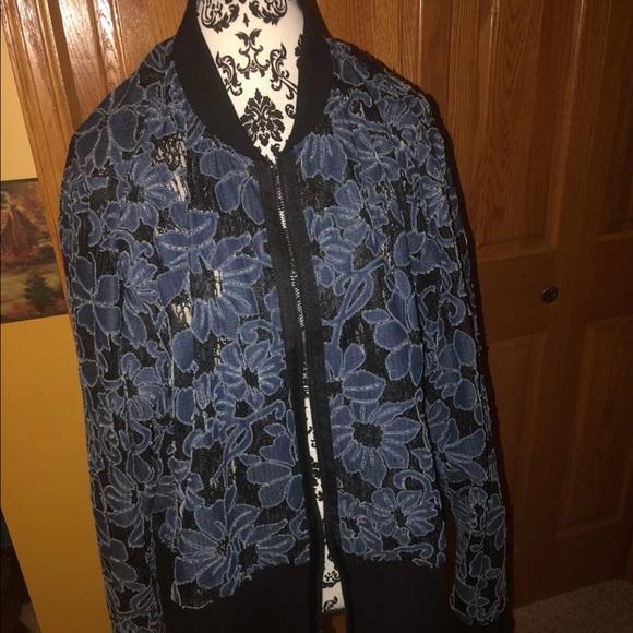 LANE BRYANT ~ NWT NEW 14 16 18 20 22 24 26 28 ~ Metallic Silver Jacquard Jacket